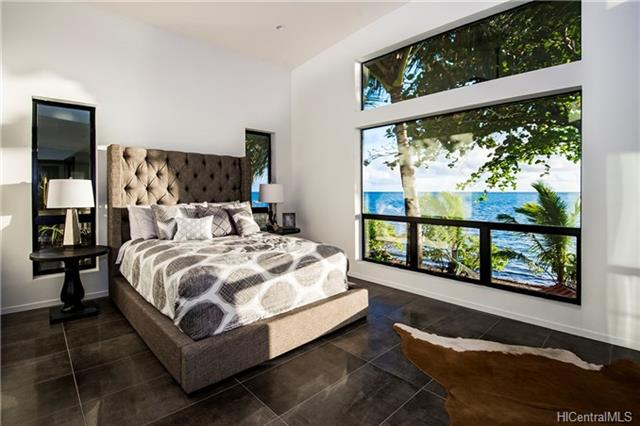 Kaneohe Ocean Front Home Master Bedroom