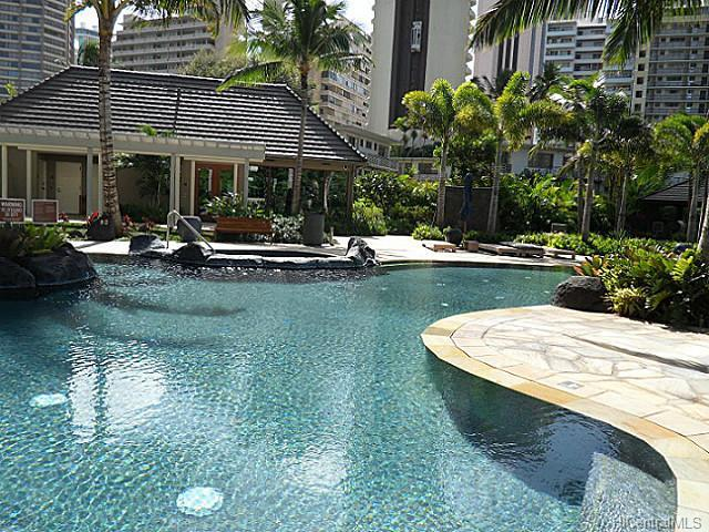 The Watermark Condo Pool Area