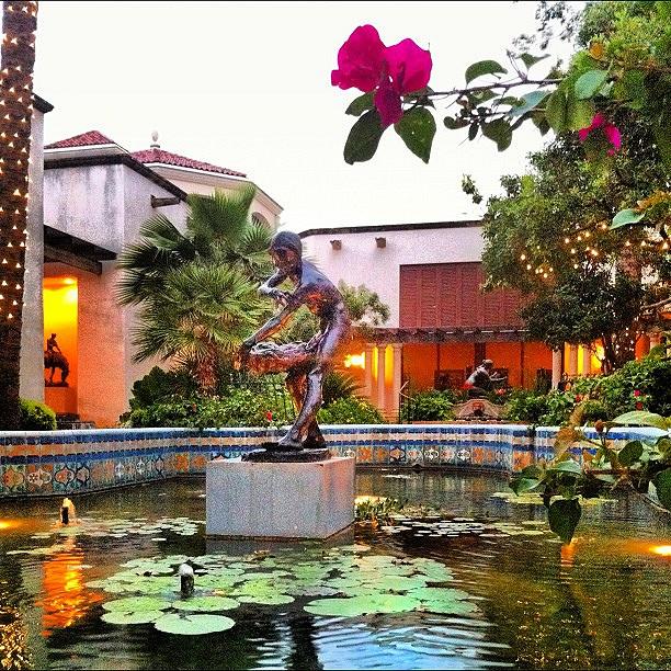 Garden in the McNay Art Museum in San Antonio