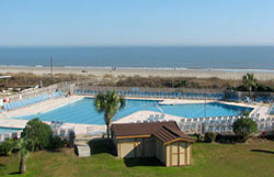 Swimming Pool at the Hilton Head Beach & Tennis Resort in Folly Field Beach.