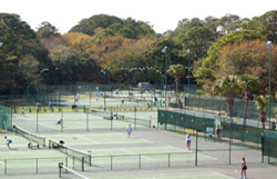 The Tennis Center at the Hilton Head Beach & Tennis Resort in Folly Field Beach.