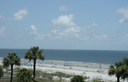 View of the White Sandy Beaches in the Forest Beach area of Hilton Head, SC
