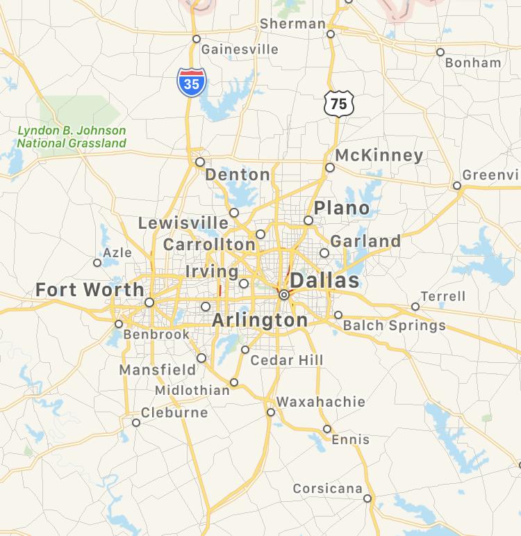 DFW Map