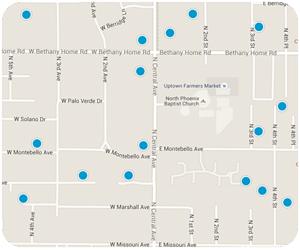 Central Avenue Interactive Map Search