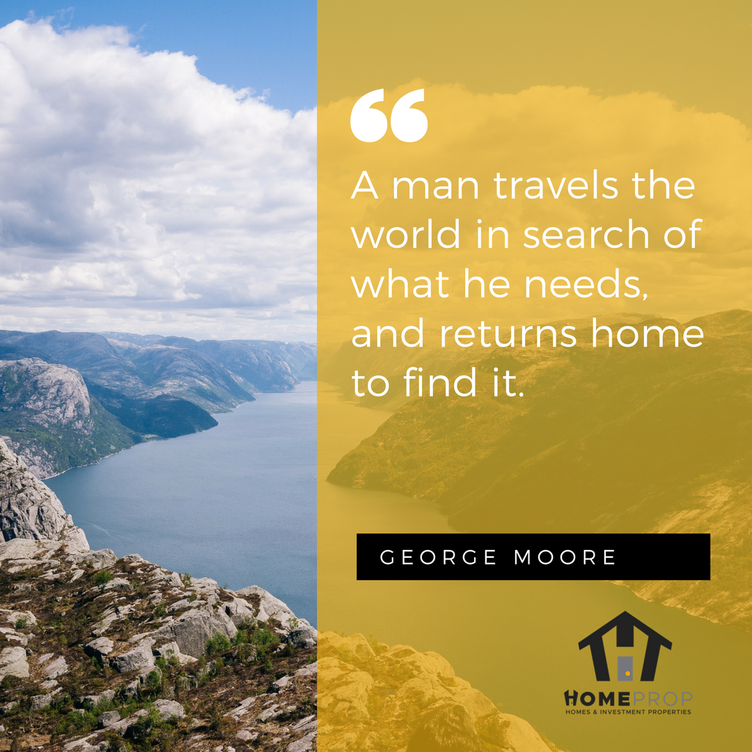 A man travels the world in search of what he needs and returns home to find it.