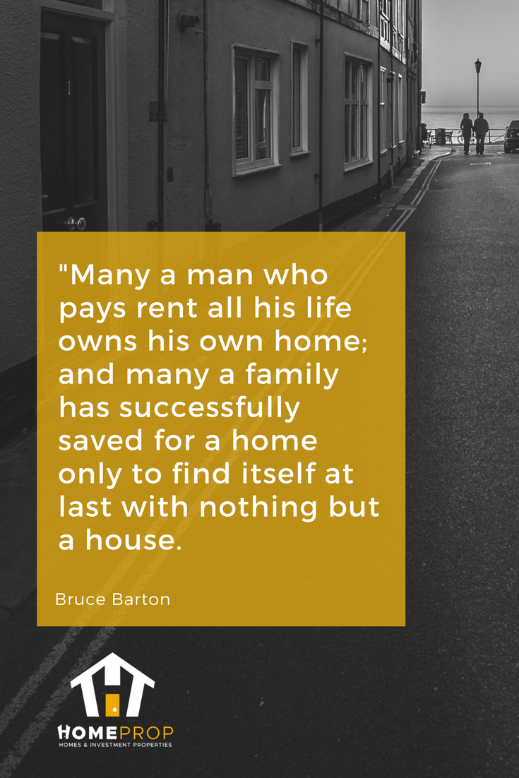 Many A Man Who Pays Rent Owns His Own Home
