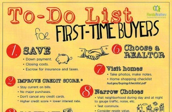 To Dos for First Time Home Buyers