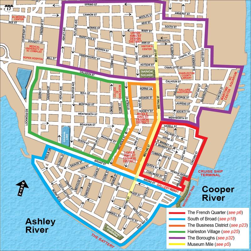 Charleston Peninsula And Downtown Areas