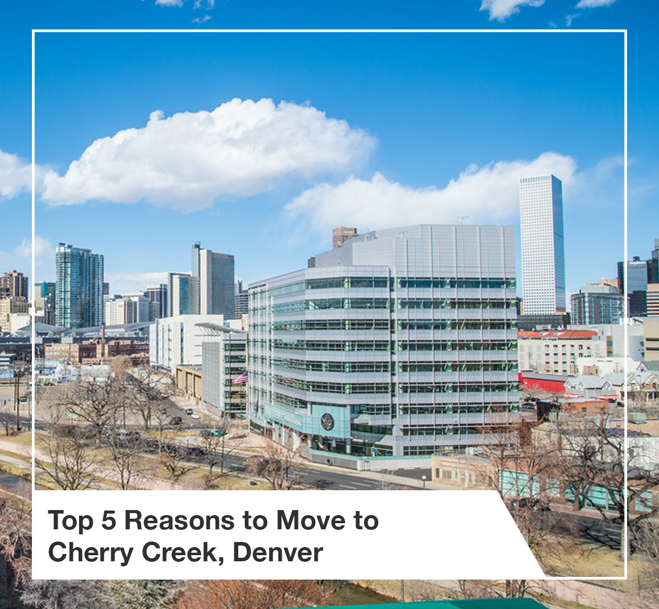 Top 5 Reasons to Move to Cherry Creek Denver