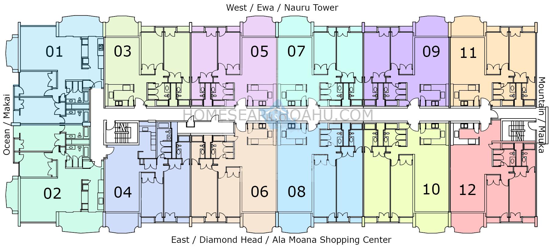 1350 Ala Moana Floor Plan