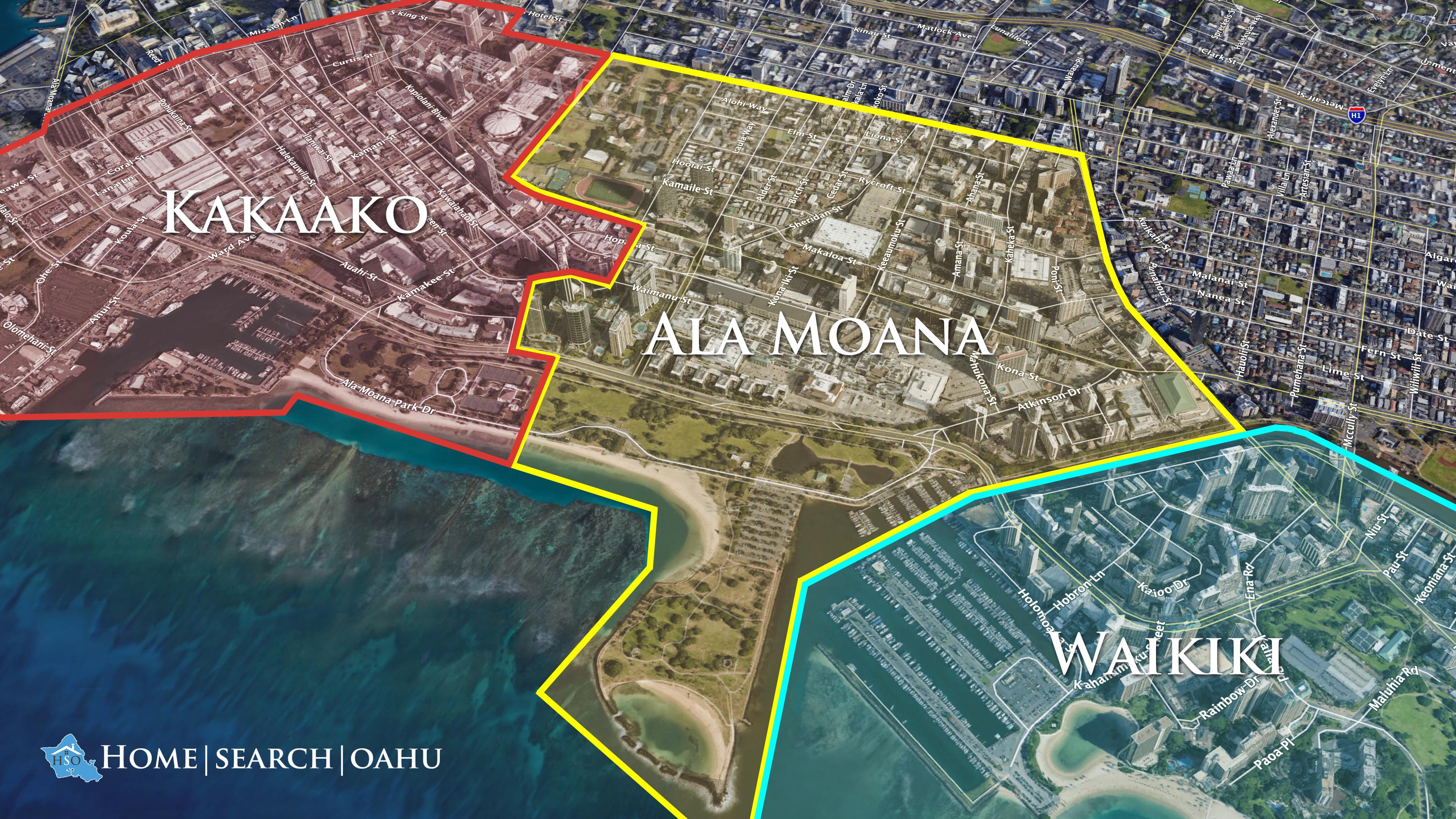 Kakaako, Ala Moana, and Waikiki Neighborhood