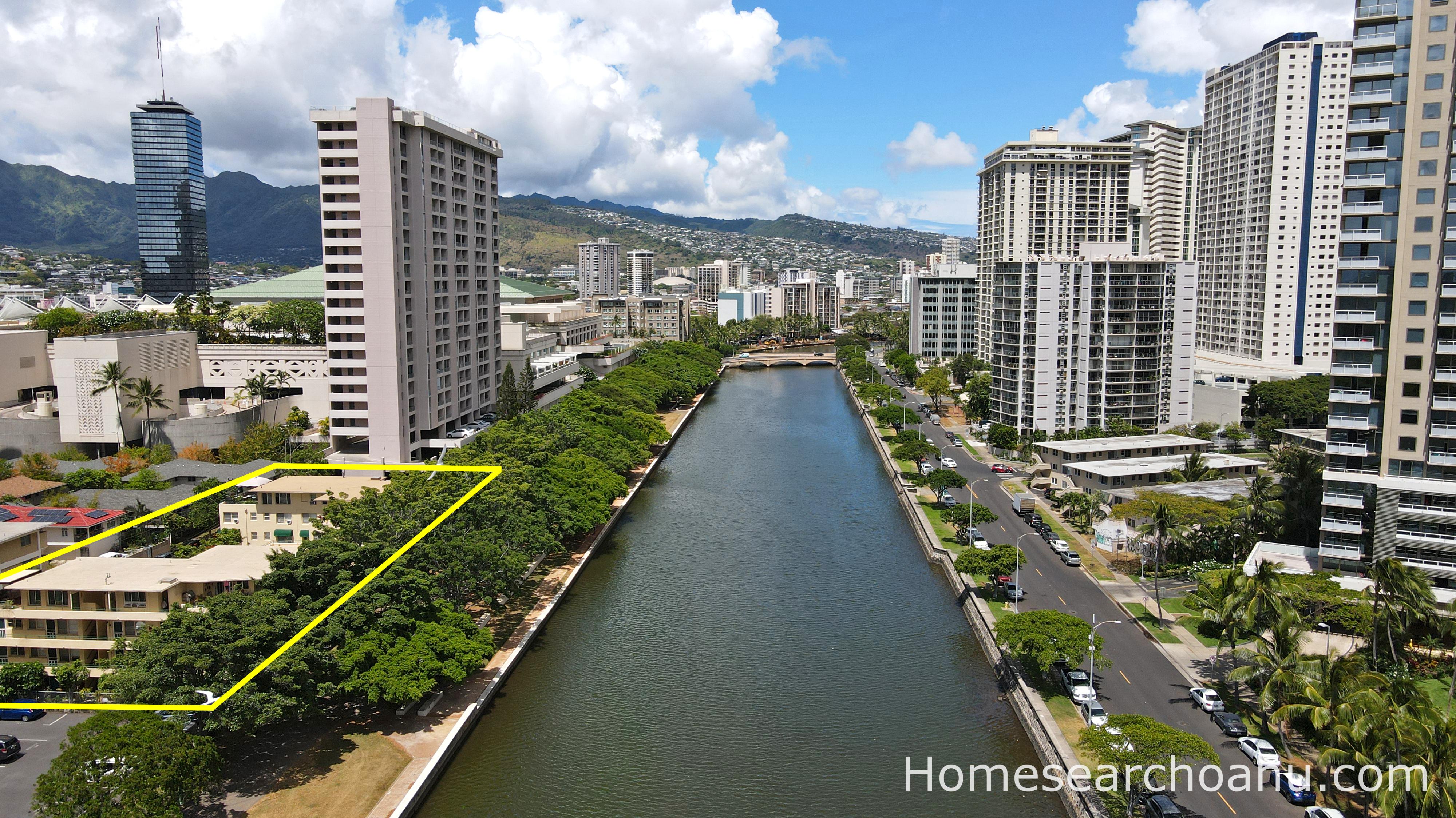 Commodore Waikiki Aerial View