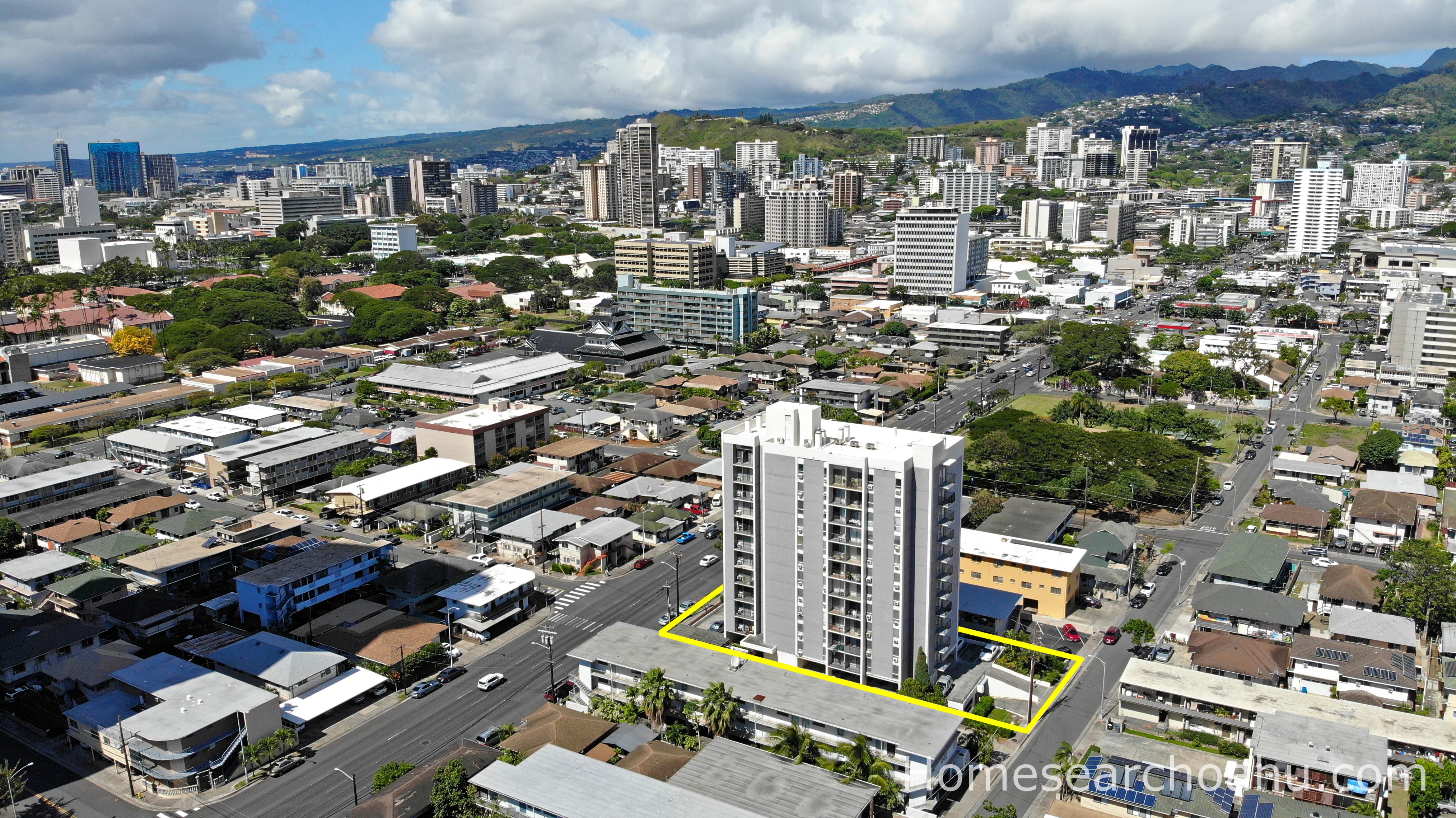 Piikoi Plaza Aerial Location