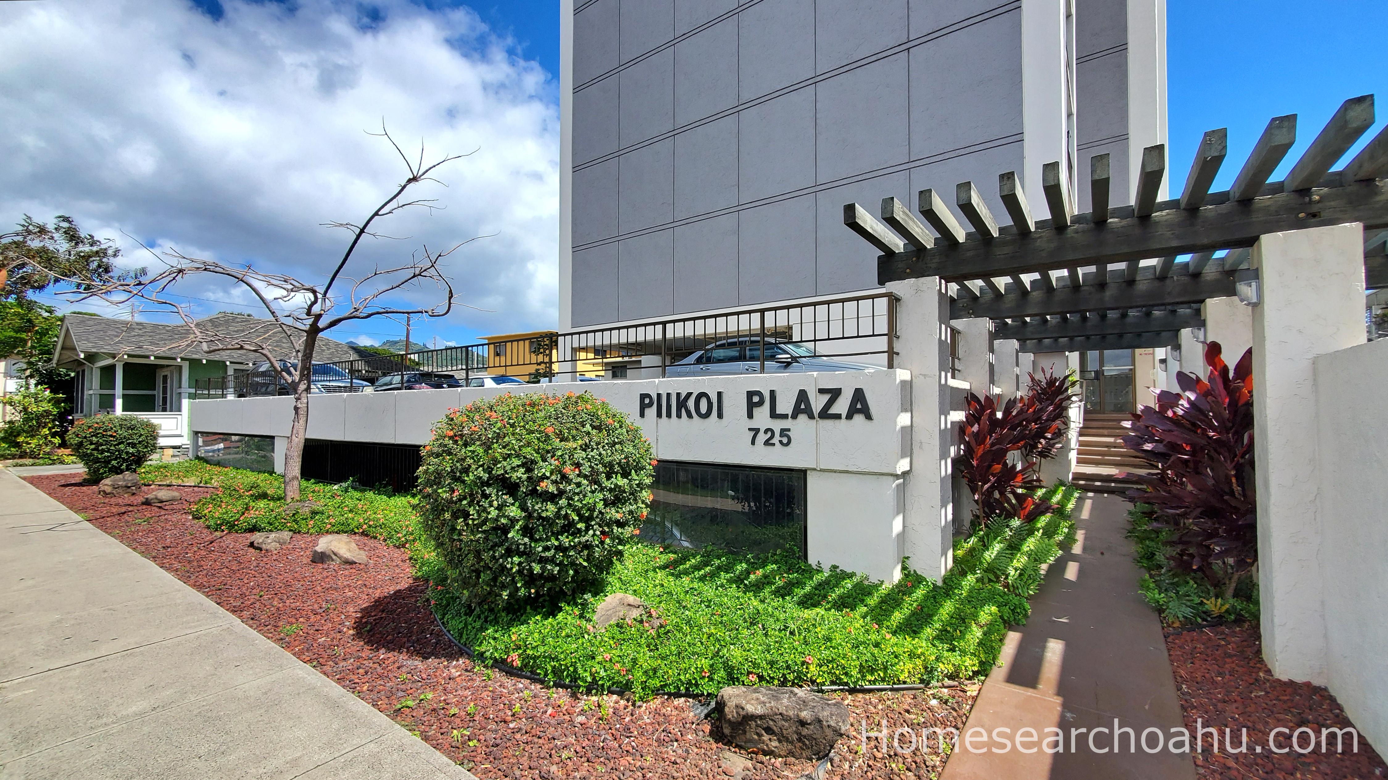 Piikoi Plaza Front Entry