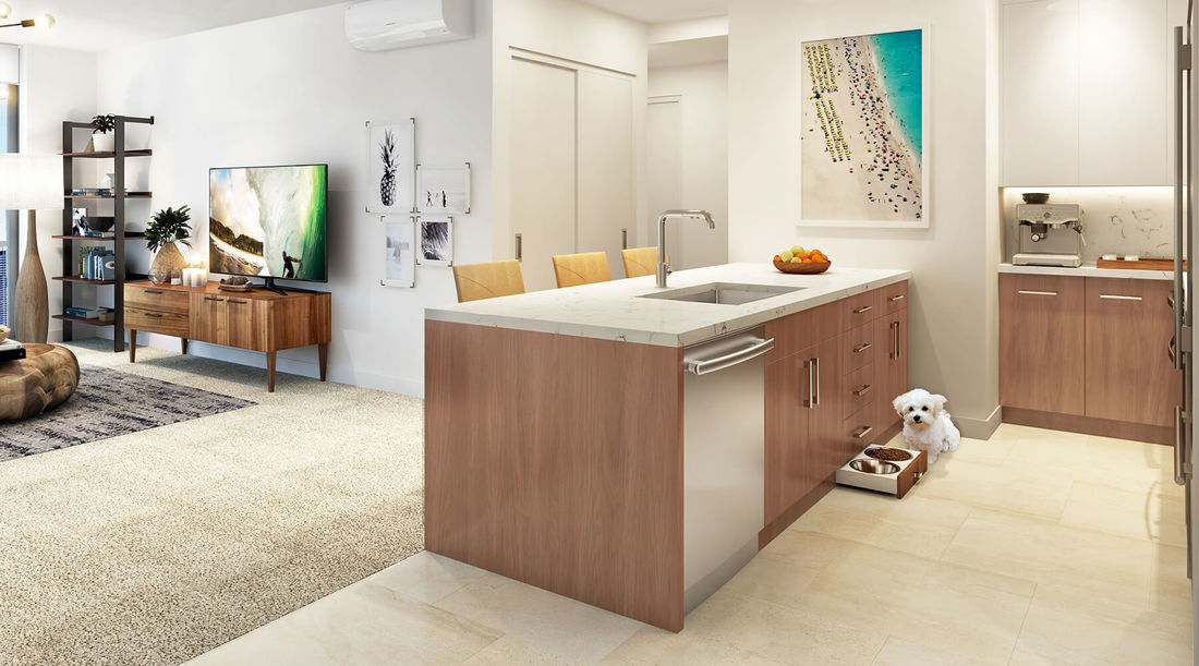 Azure Ala Moana Kitchen Rendering