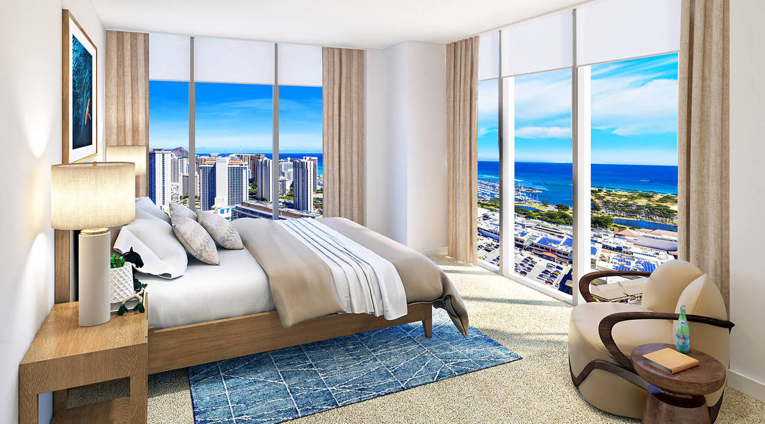 Azure Ala Moana Bedroom Rendering