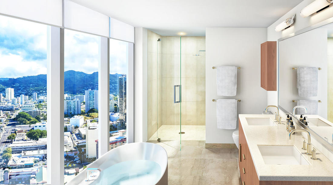 Azure Ala Moana Bathroom Rendering