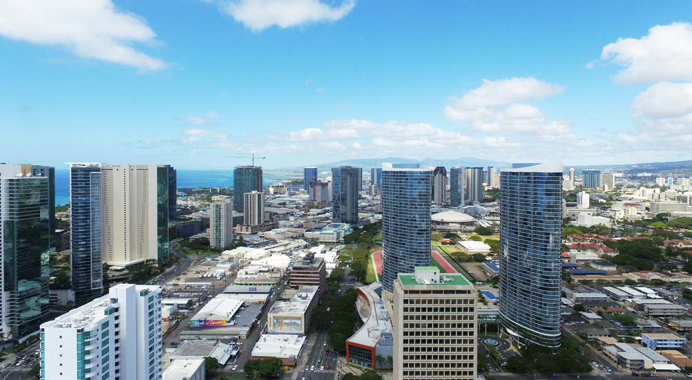 Hawaii City Plaza View