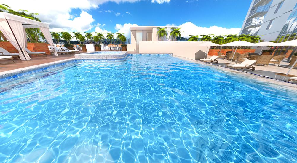 Hawaii City Plaza Pool Area