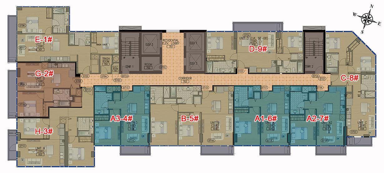 Hawaii City Plaza Typical Floor Plan