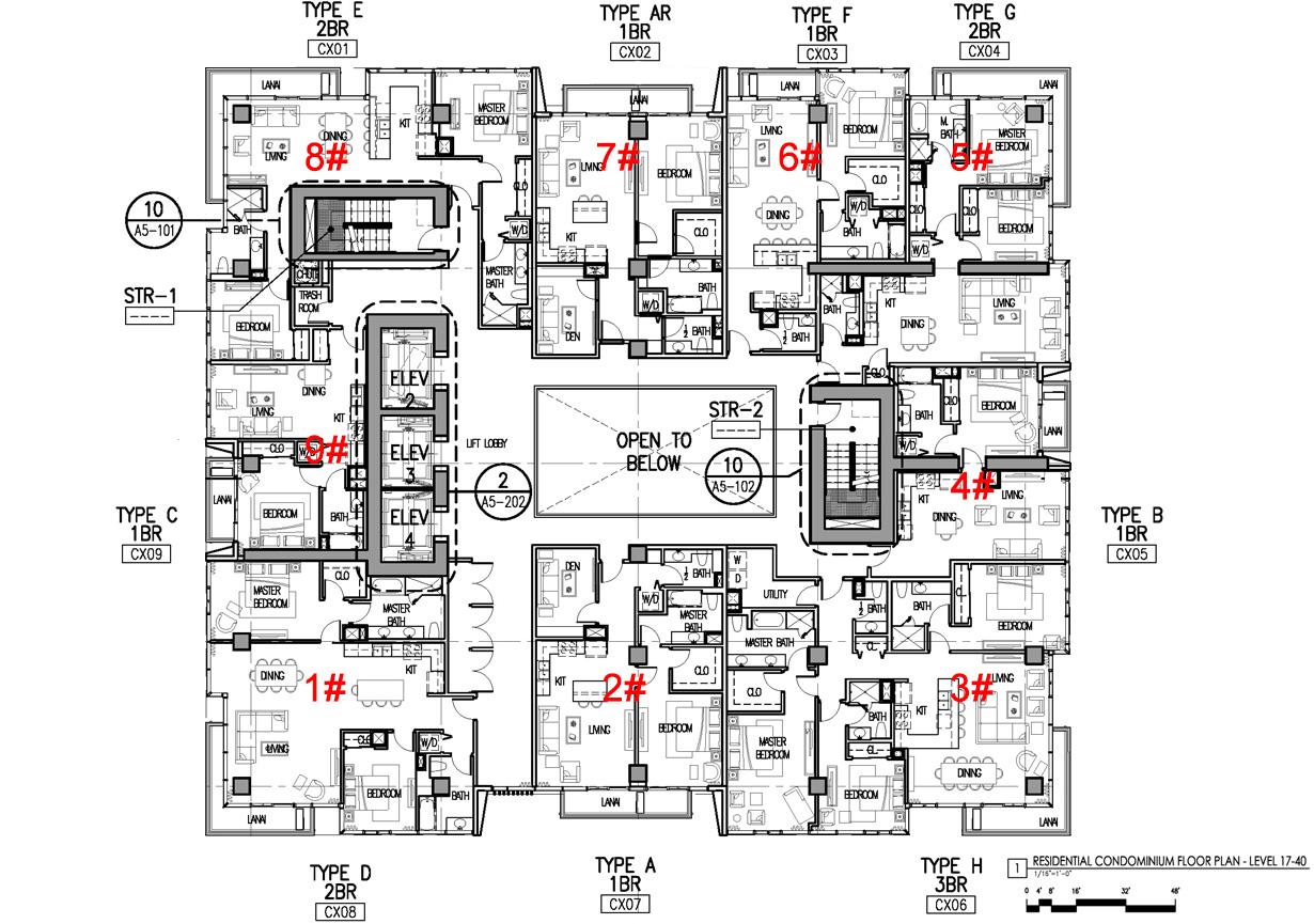 Hawaii Ocean Plaza Typical Floor Plan