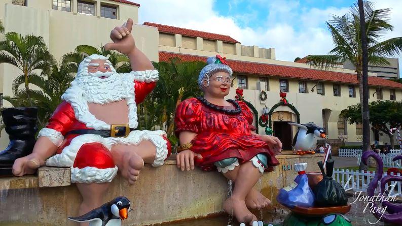 Honolulu Hale Christmas Decorations