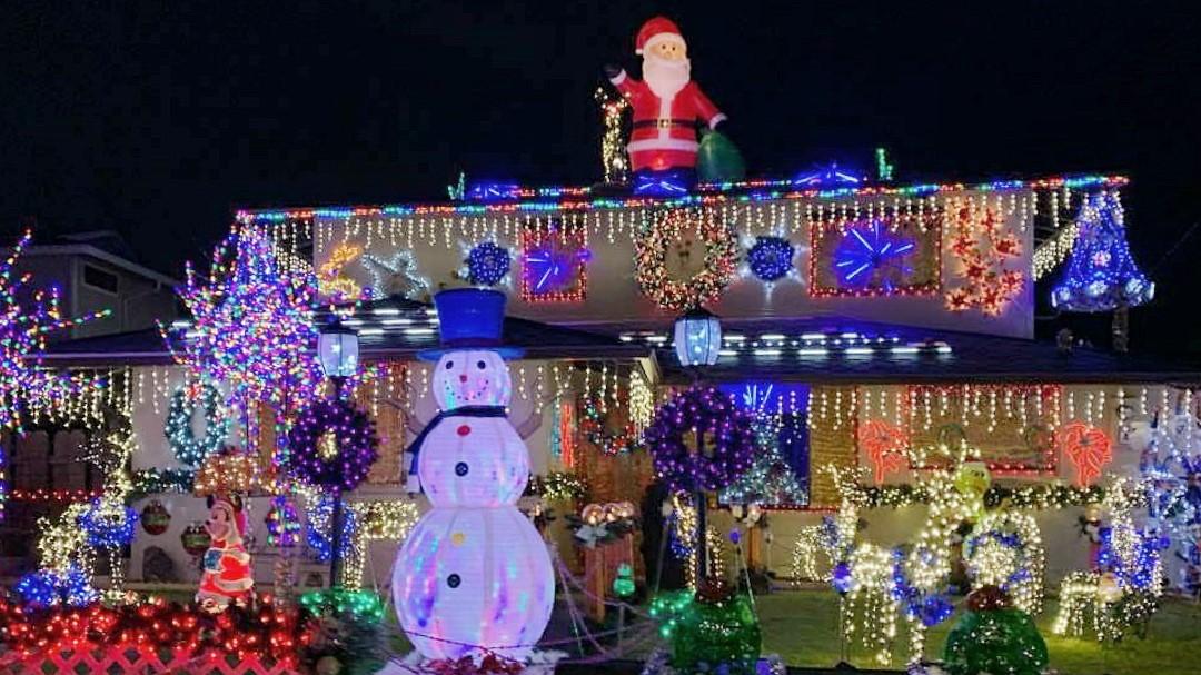 Christmas Lane in Kaneohe