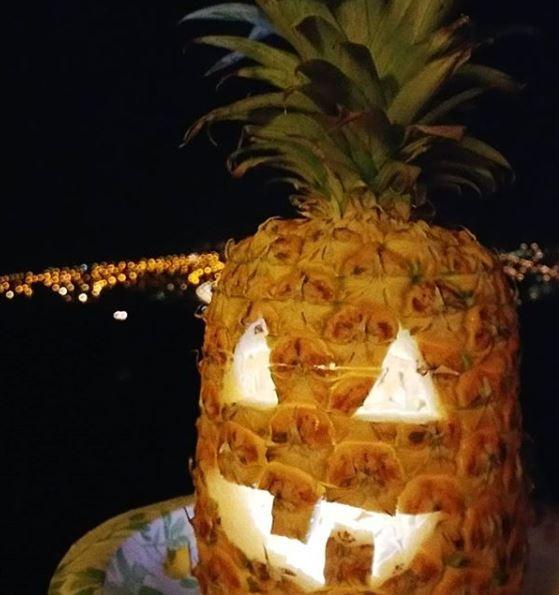 Pineapple Jack-o-lantern