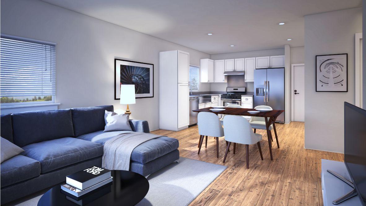 Ho'oulu Living Room/Kitchen Rendering