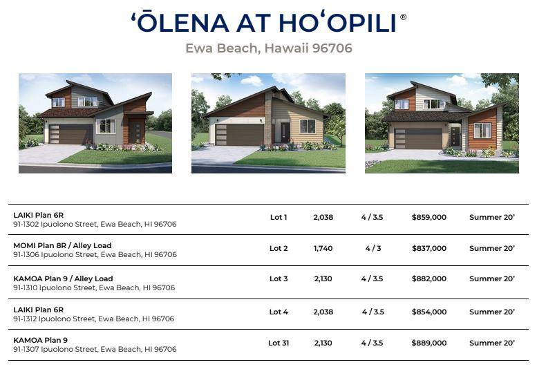 Olena Price Sheet 2.8.20