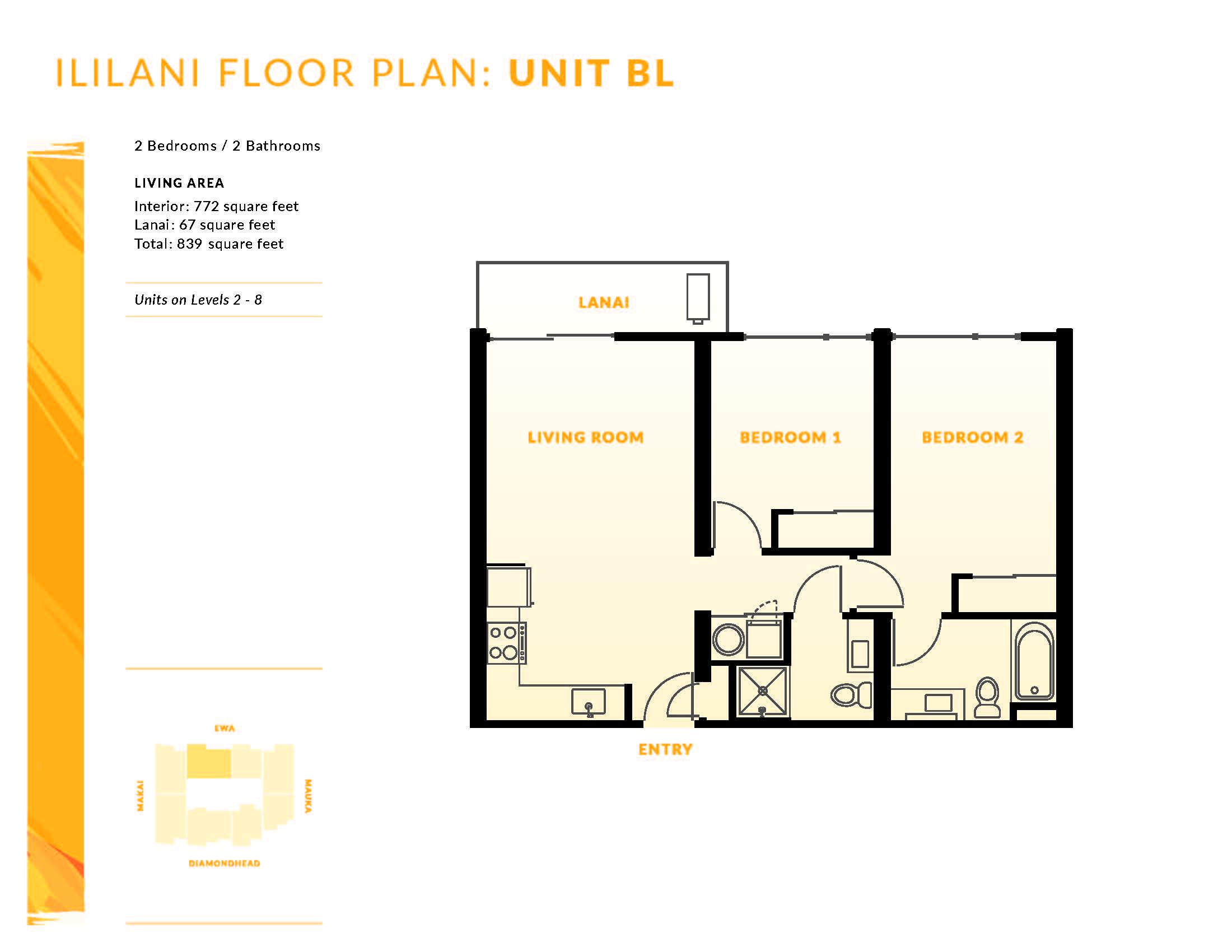 Ililani Floor Plan BL