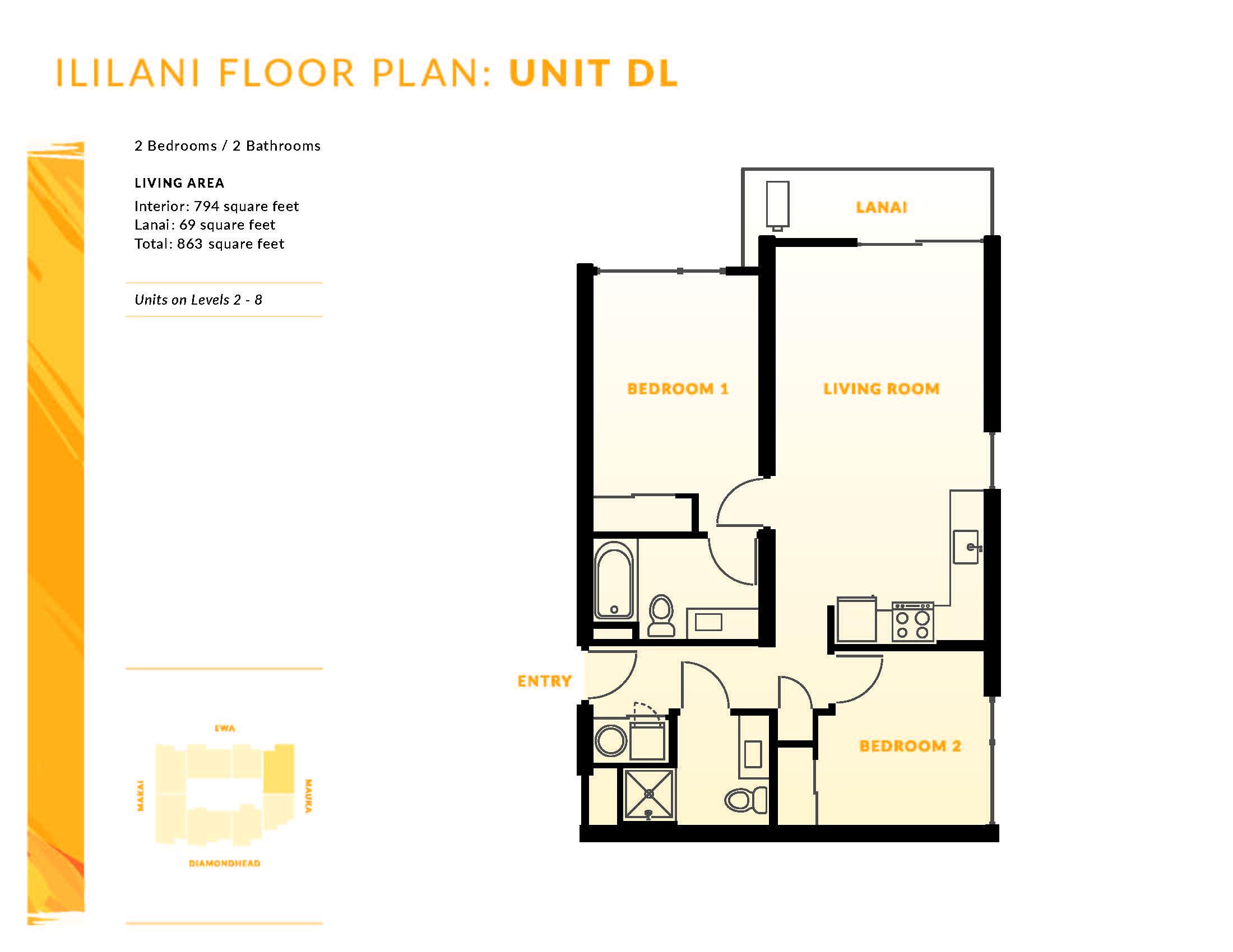 Ililani Floor Plan DL