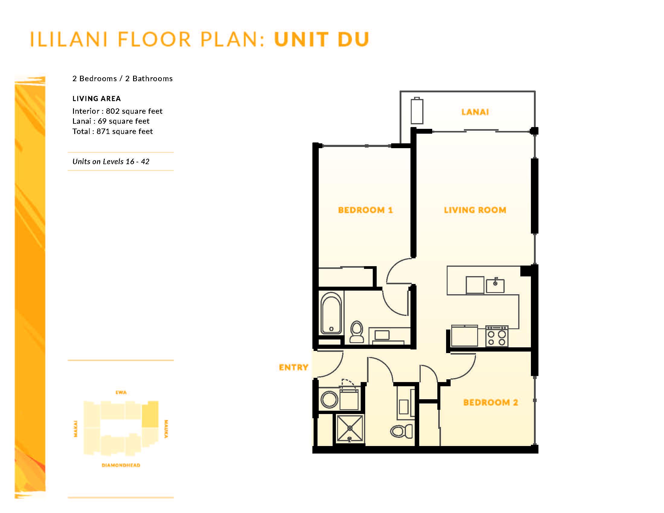 Ililani Floor Plan DU