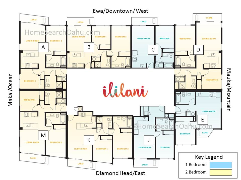 Ililani Tower Floor Plate - Upper Levels