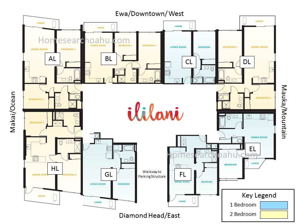 Ililani Tower Floor Plate - Lower Levels