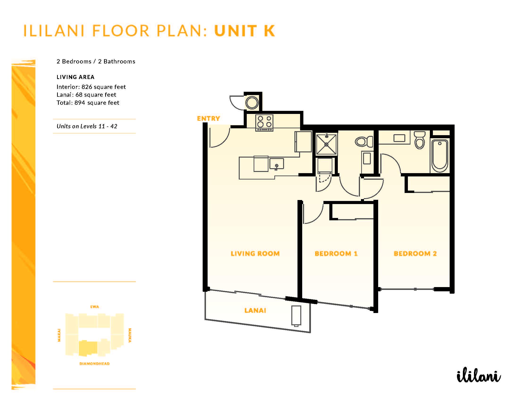 Ililani Floor Plan K