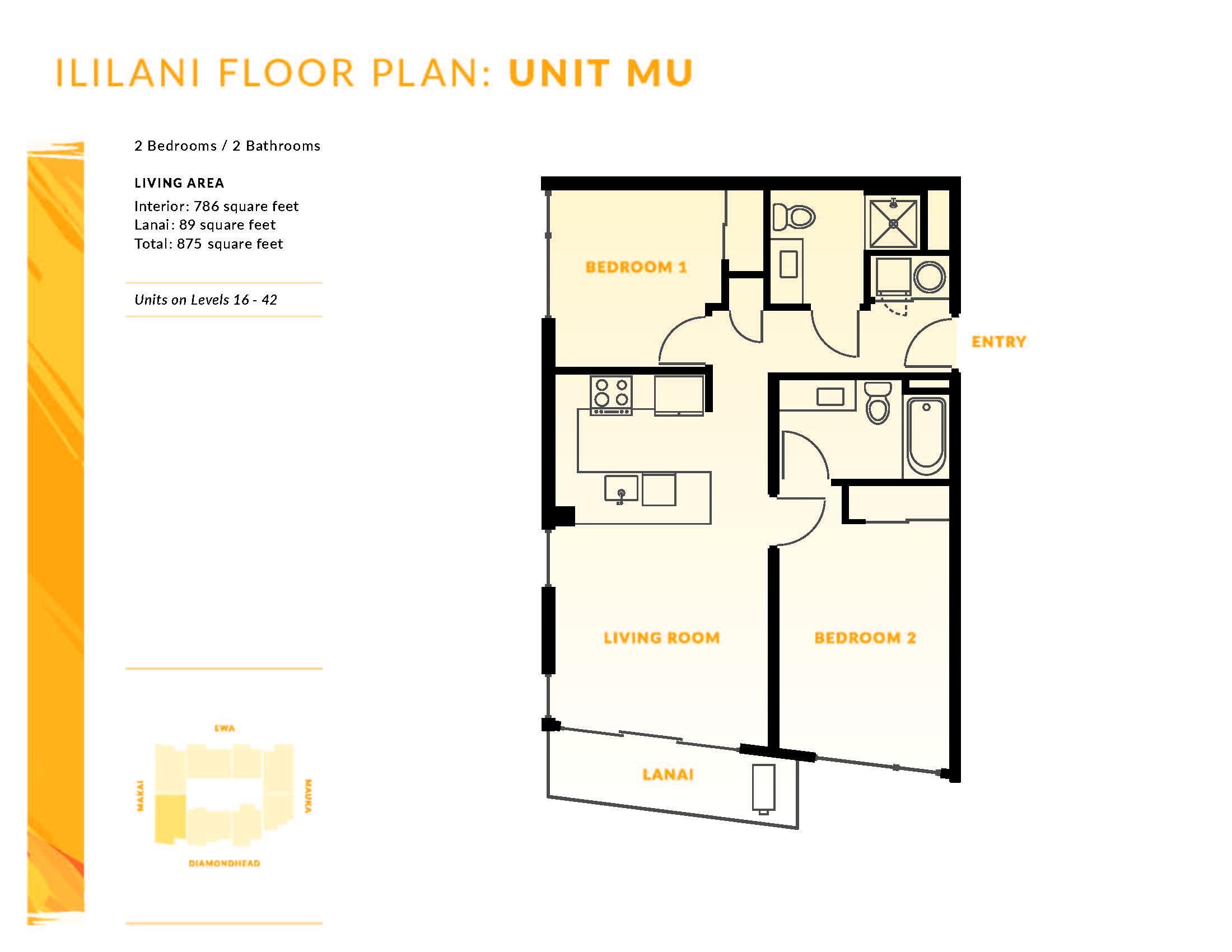 Ililani Floor Plan MU