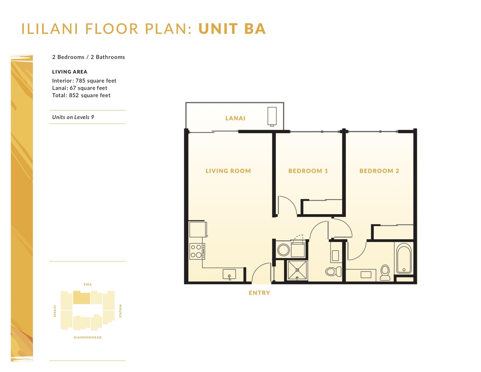 Ililani Floor Plan BA