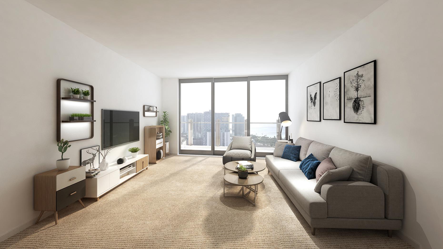 Ililani Living Room Rendering