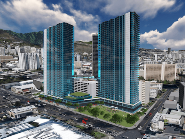 Keeaumoku Towers Artist Rendering