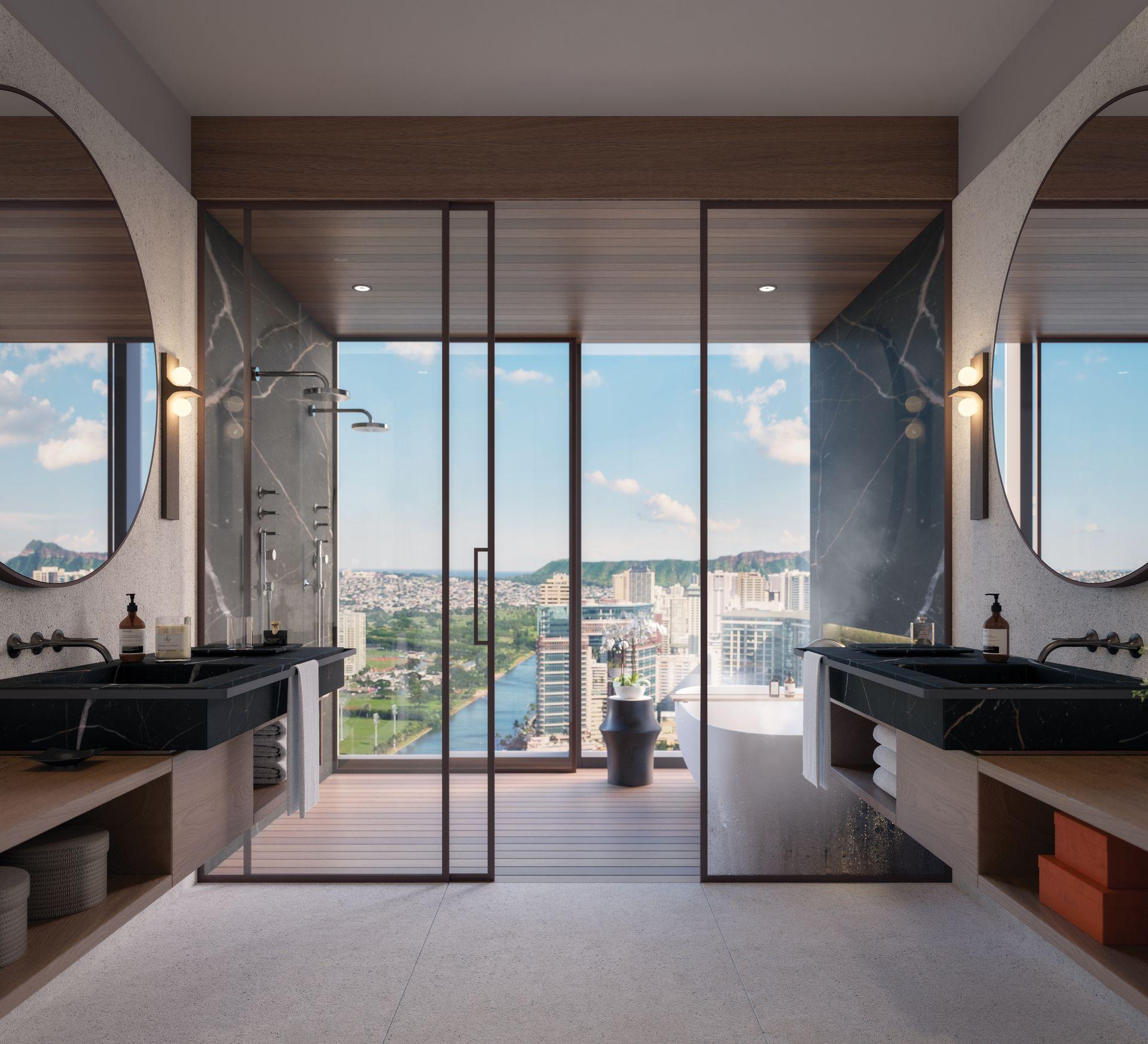 Mandarin Oriental Bathroom Rendering