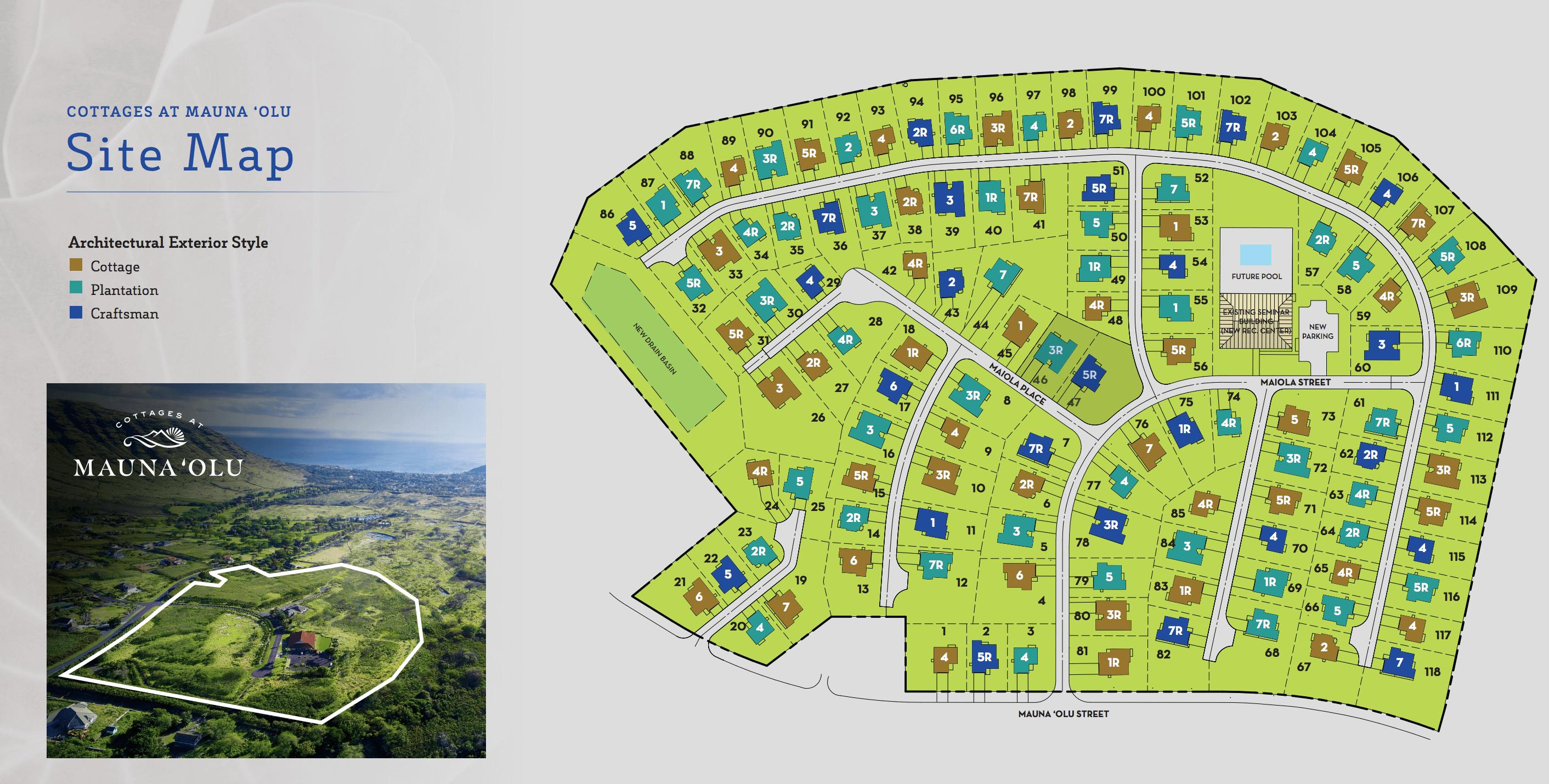 Cottage at Mauna'olu Site Map