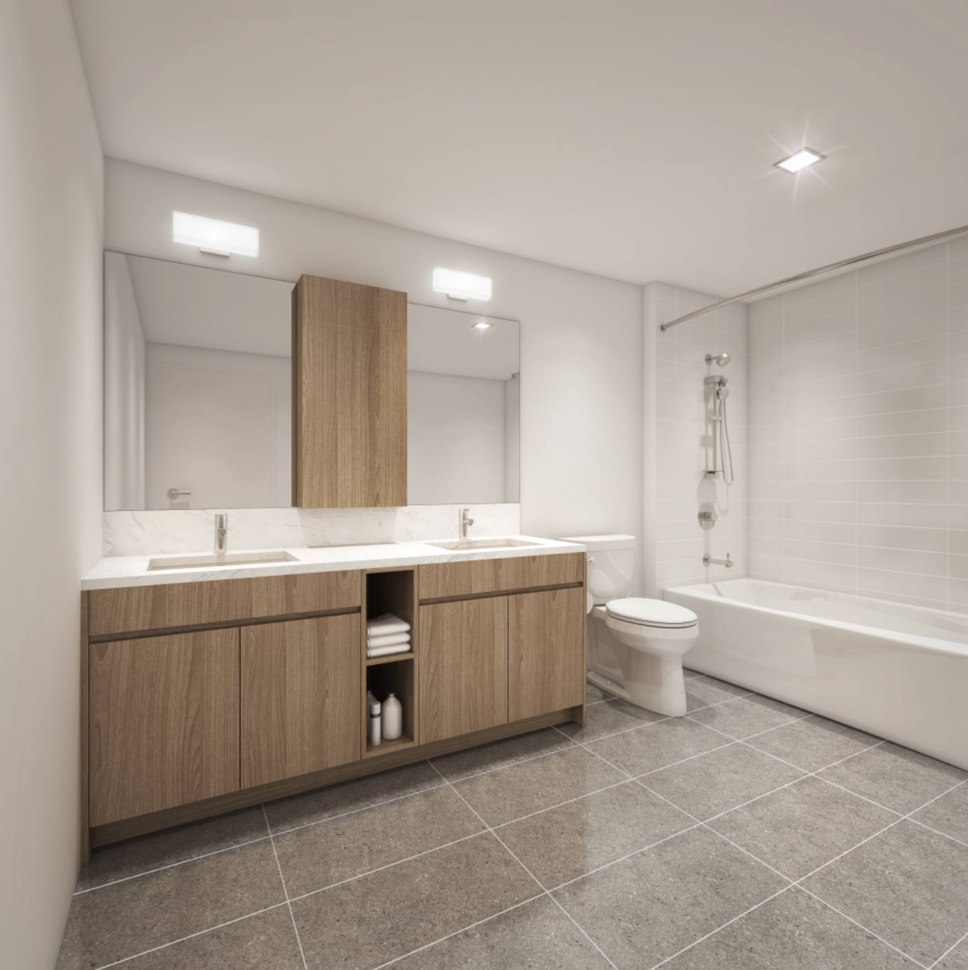 The Central Ala Moana - Bathroom Rendering