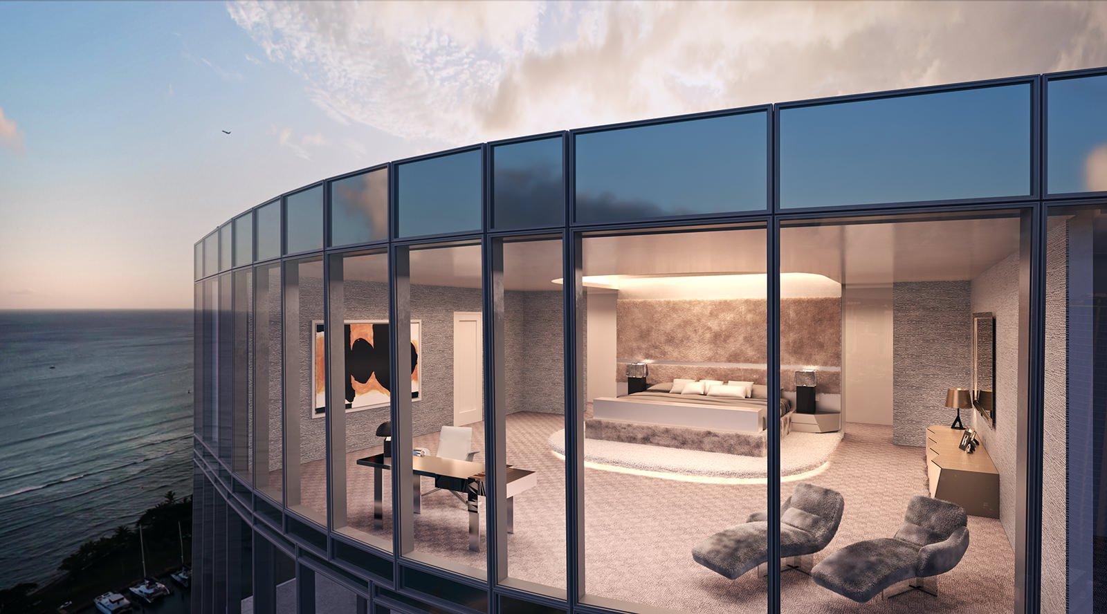 Waiea Grand Penthouse Master Bedroom