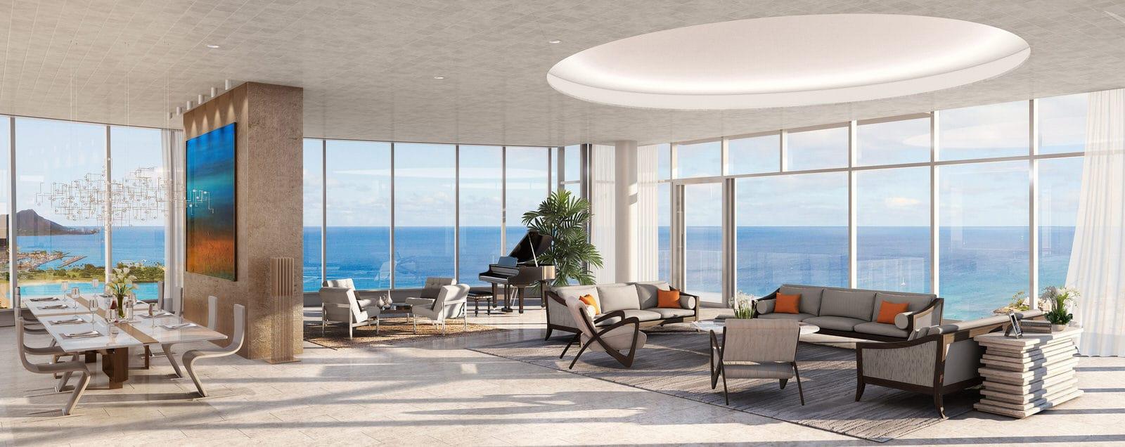 Waiea Penthouse Living Room