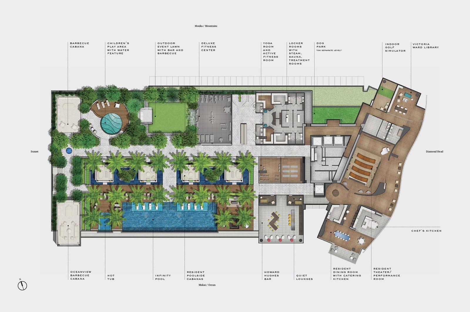 Ward Village Waiea - Amenity Deck
