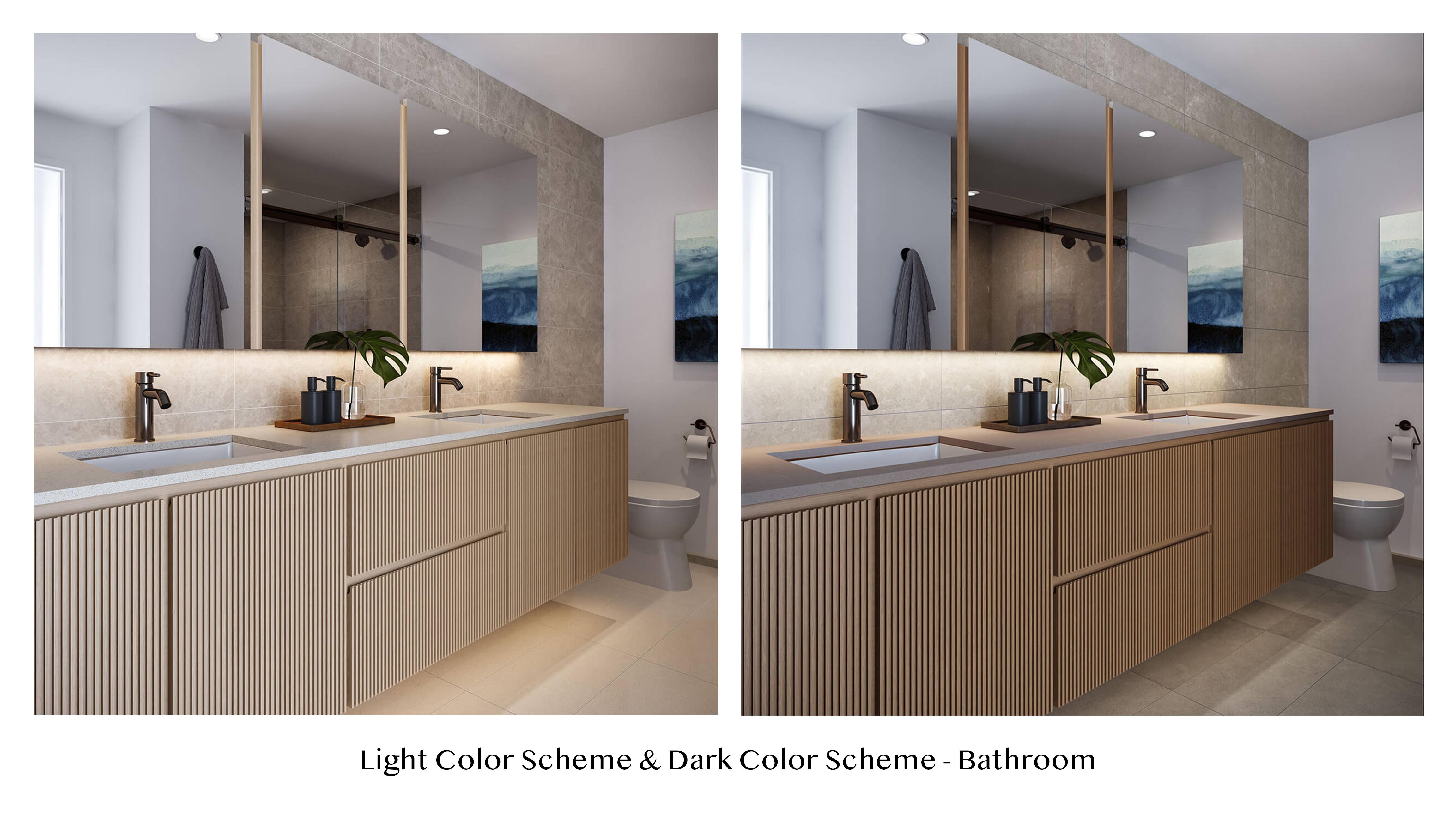 light vs dark color scheme
