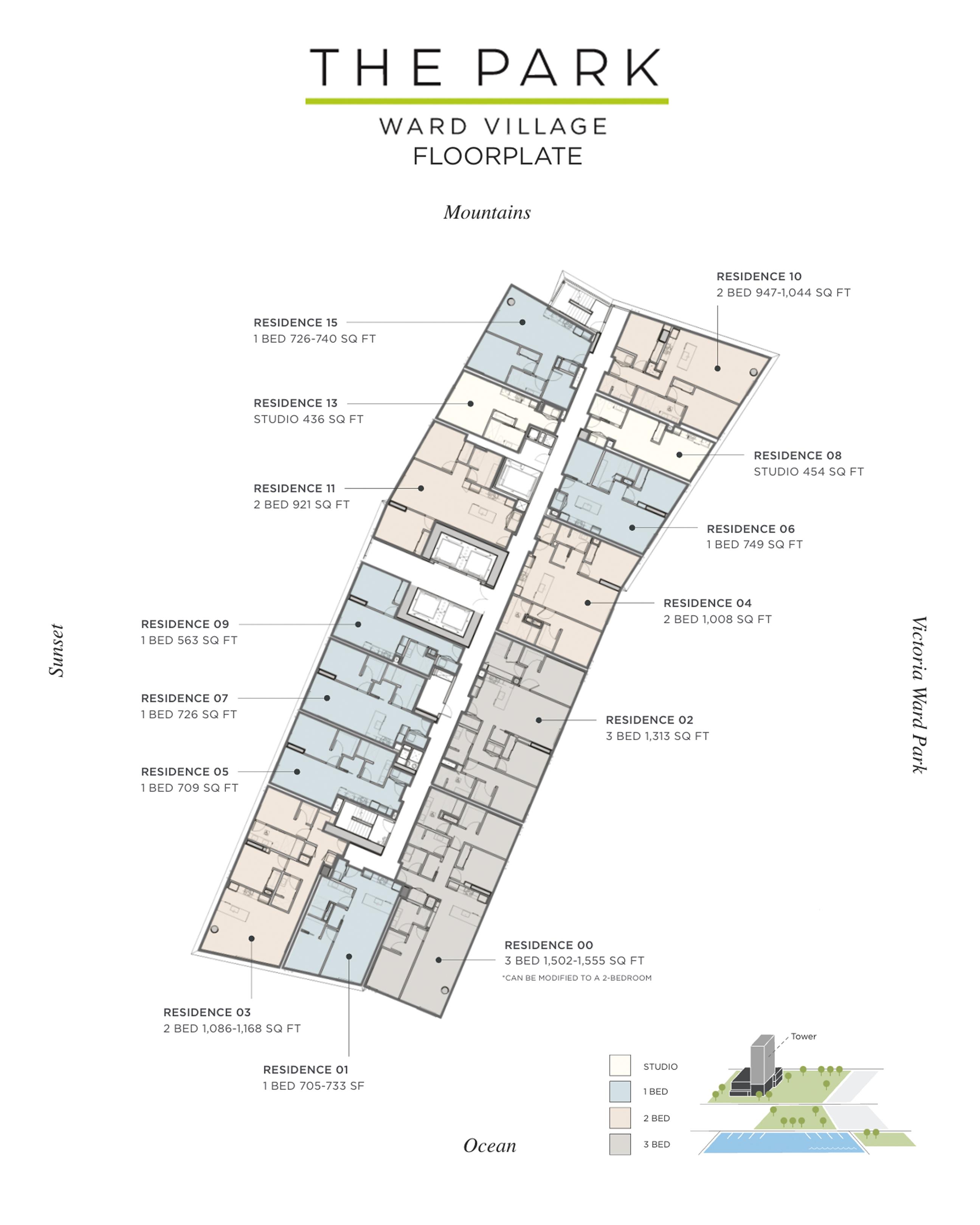 The Park Ward Village Floor Plan