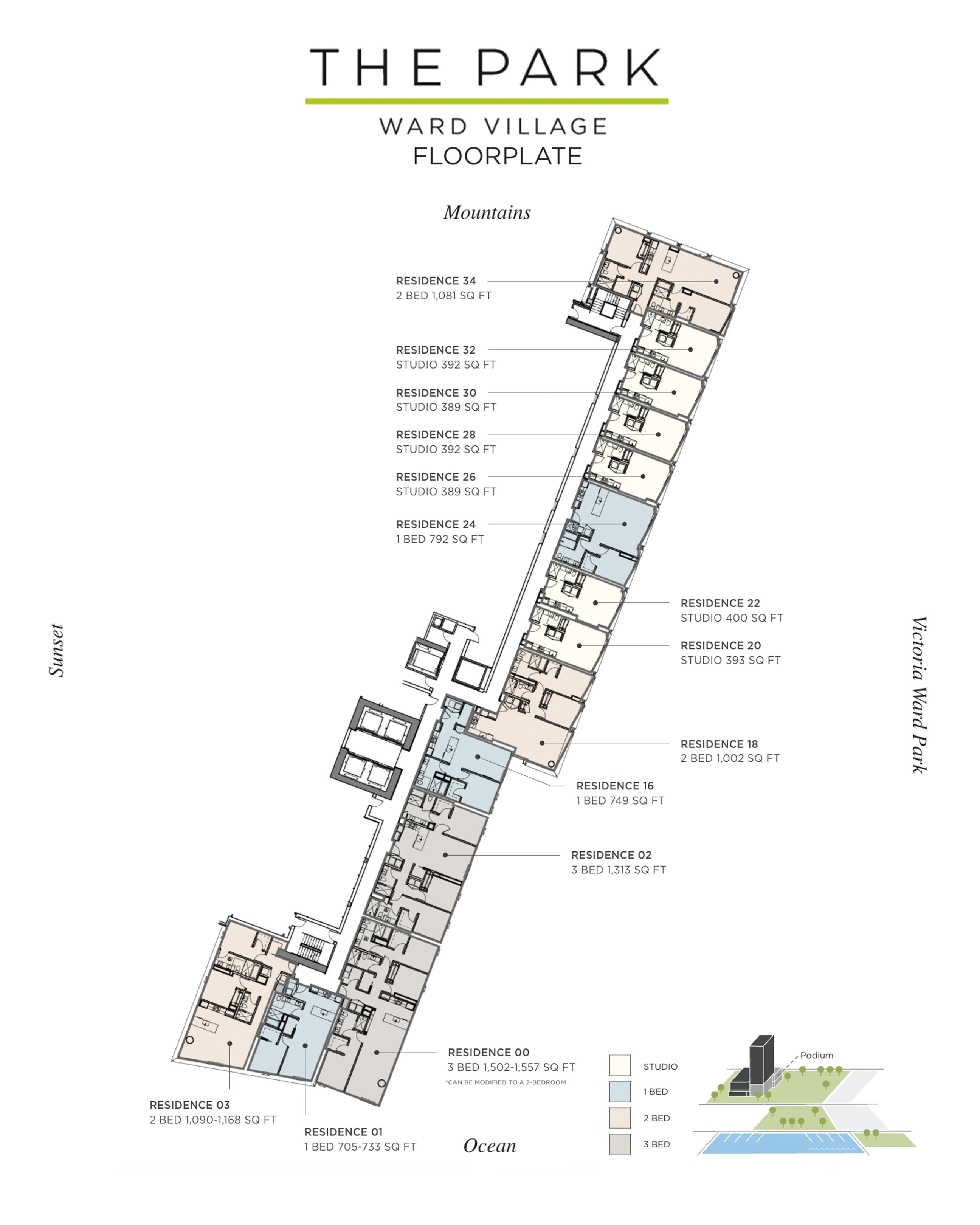 The Park Ward Village Podium Floor Plan