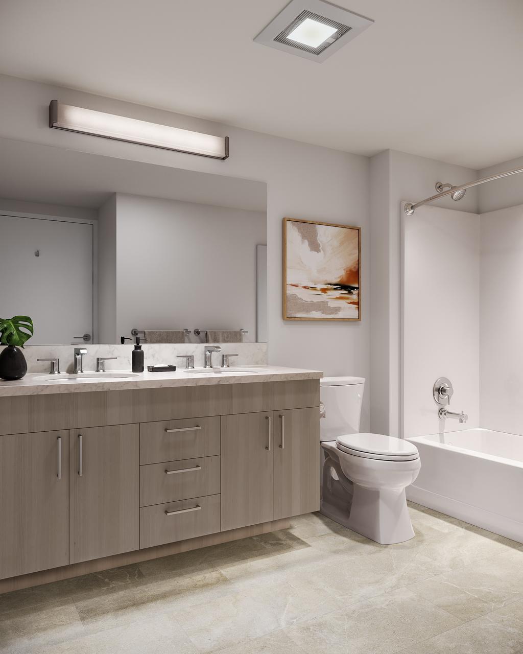 Dual Vanity Bathroom